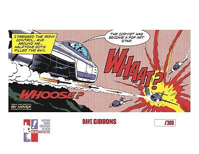 DAVE GIBBONS autographed Whaat? print, limited to 300!