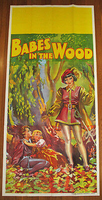 1930s Art Deco 3 Sheet Babes in the Wood Theater Poster Stone Lithography Pin Up