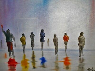 """Oil painting on canvas 24"""" x 20"""" from the artist Kevin Richards called 5.30pm"""