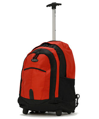 19 inch Rolling Carry-On Wheeled Travel Backpack Luggage / Book Bag