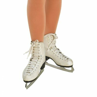 Girls Full Footed Ice Skating Tights In Natural Or Dark Suntan