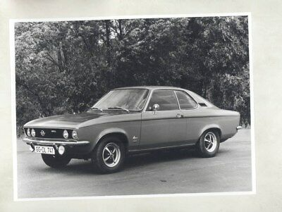 1973 Opel Manta SR ORIGINAL Factory Photo & Press Sheet wy5298