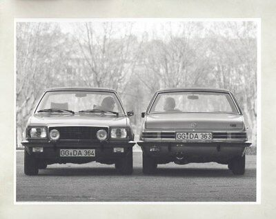 1972 Opel Commodore & Commodore GS ORIGINAL Factory Photo & Press Sheet wy5305