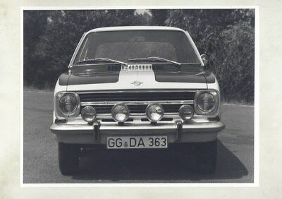 1971 Opel Rallye Kadett ORIGINAL Factory Photo & Press Sheet wy5306