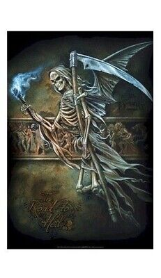 GRIM REAPER GETTING NEW BODY FANTASY #24-034  RP73 R FREE SHIPPING POSTER