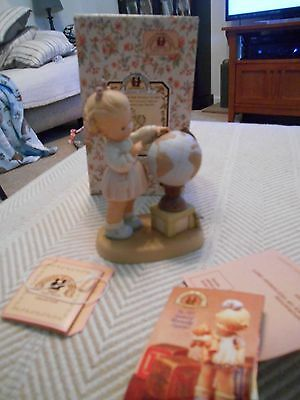 Memories of Yesterday You Mean the World to Me Figure, 1997 Enesco, Girl & Globe