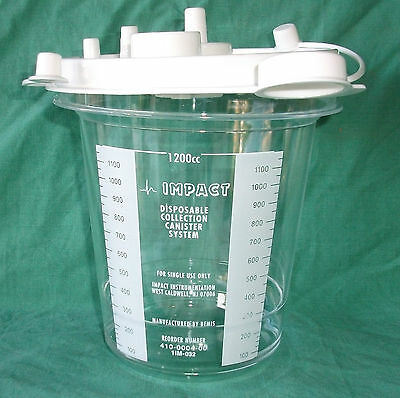 Disposable Suction Canister, 1200ml Capacity x 2, last in stock