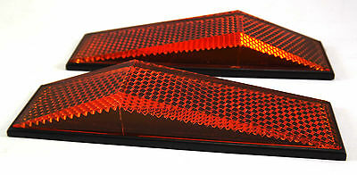 Reflector 2 Pieces Angled in Amber or Red 28 x 103 x 18mm (highest) self stick