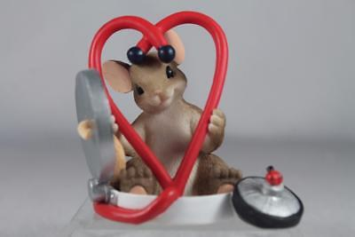 Charming Tails 'You're Good For My Heart' Doctor/Nurse?- #4042545 NIB!
