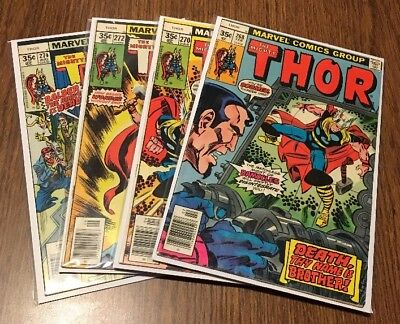 The Mighty Thor Lot of 7 Bronze Age Comic Books Complete Run 268-274 Marvel