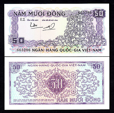 Vietnam South 50 Dong ND 1966 P. 17 UNC Note
