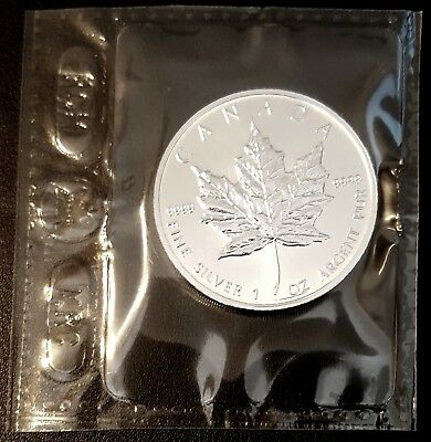 1993 Canadian Maple Leaf RCM Sealed In Mint Package 1 oz .9999 Fine Silver