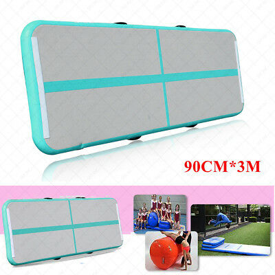 Green Air Track Home Floor Gymnastics Tumbling Mat Inflatable Tumbling Track GYM