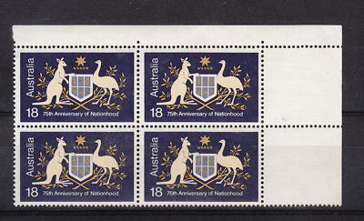 1976 18c Nationhood Block 4.Variety: 3 legs kangaroo MNH/MUH.Very scarce & cheap