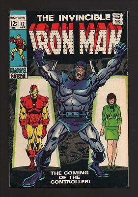 IRON MAN #12 VF Marvel 1969 THE CONTROLLER New Collection SILVER AGE Classic