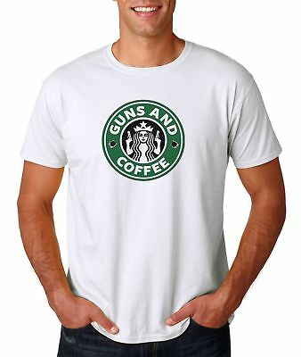 Guns And Coffee T-Shirt Starbucks Parody 2nd Amendment