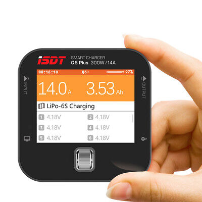 """ISDT Q6 Plus 2-6S Pocket Battery Balance Charger w/ 2.4"""" 320×240 IPS LCD Display"""