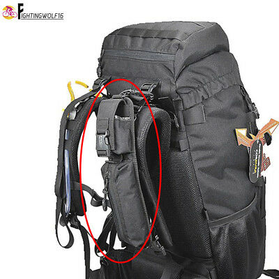 Backpack Shoulder Strap Accessory Pouch Outdoor Hiking Trekking Molle Tool Bag