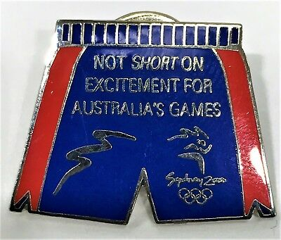 Shorts Red And Blue Sydney 2000 Olympics Pin Collect #1038