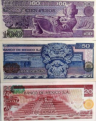 70's & 80's  Mexican PESOS Bank Notes - 99% UNCIRCULATED condition