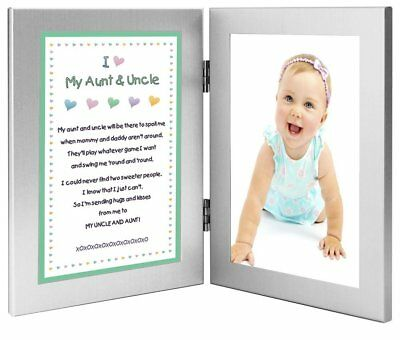 Gift for Uncle and Aunt - Sweet Poem From Niece or Nephew - 4x6 Frames - Add
