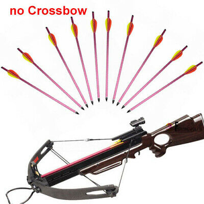"""10X 15"""" Metal Crossbow Bolts Arrow For 150 180 lbs Pistol Crossbow Replaced Tip"""