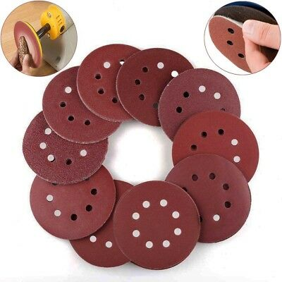 10pcs 5'' Sanding Discs Sheets Hook Loop Sander Pad 125mm Sandpaper 40~2000 Grit
