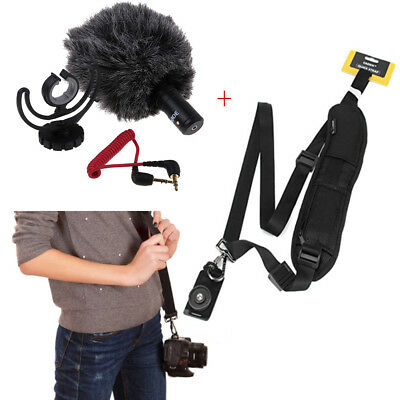 Rode VideoMicro Compact On-Camera Microphone with Rycote Lyre Shock Mount &Strap