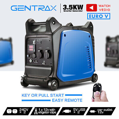 [20%OFF]GenTrax Inverter Generator 3.5KW Max 3.2KW Rated Remote Portable Petrol