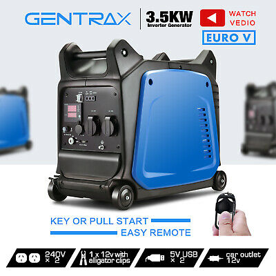 GenTrax Inverter Generator 3.5kVA Rated 3.2KW Pure Sine Remote Start Portable