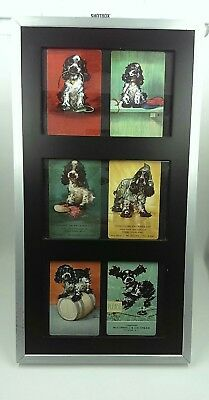 Albert Staehle Butch, Framed Playing Cards, 6 images of the Playful Cocker Nice!