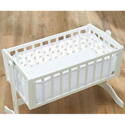 Breathable Baby Crib Liner Tiny Tatty Teddy Bumper Mesh 4-Sided Cradle