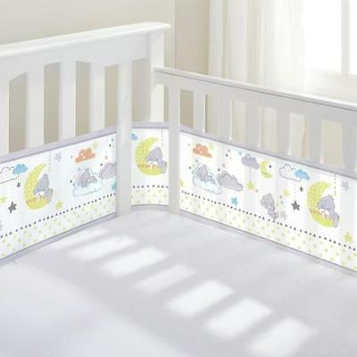 Breathable Baby Mesh Liner Cot Cot Bed Bumper Air Safety Suffocate 2 or 4 Sided