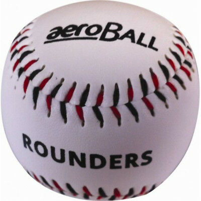 Incrediball Aeroball Rounders Younger Player Baseballs Stitched Leather Ball