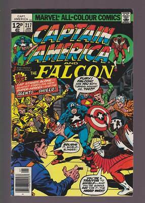 Captain America # 217  1st appearance of Quasar !  grade 5.0 scarce book !