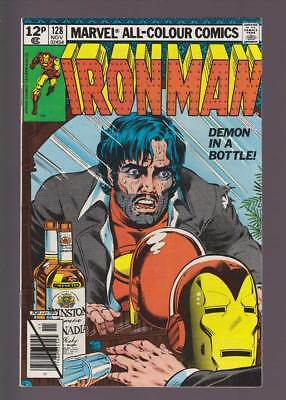 Iron Man # 128  Demon in a Bottle Classic cover !  grades 7.0 scarce book !