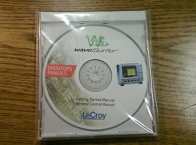 Lecroy wavesurfer Operator's Getting Started Remote Control Manual CD