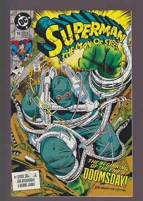 Superman The Man of Steel # 18  1st full app. Doomsday ! grade 8.0 scarce book !