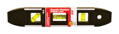 "NEW! JOHNSON LEVEL ACE Aluminum 9"" Magnetic Torpedo Level  27093"