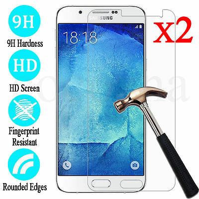 2x&9H Tempered Glass Screen Protector Film For Samsung Galaxy J3 J5 J7 2017 NEW