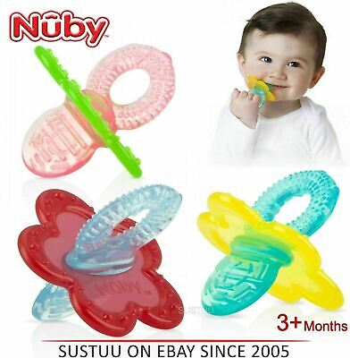 Nuby Chewbie Teether Baby Gum Soother Massaging Bristles with Hygenic Carry Case