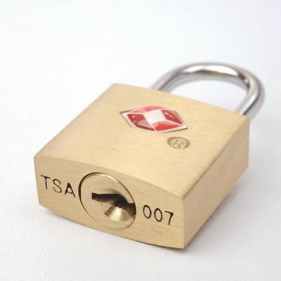 TSA Approved Solid Brass Security Key Lock Padlock for Travel Luggage Suitcase