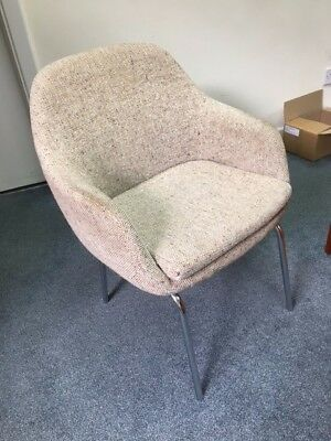 6 vintage retro chairs upholstered in wool material
