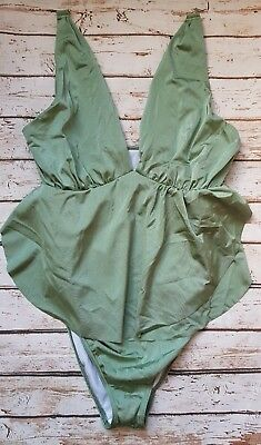 New Ex Branded Maternity Petal Wrap Detail Swimsuit in Green Swimwear  Beach