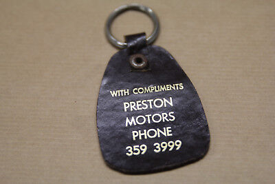 Holden Preston Motors With Compliments Phone 359 3999 Key Ring Fob  Retro 1960S