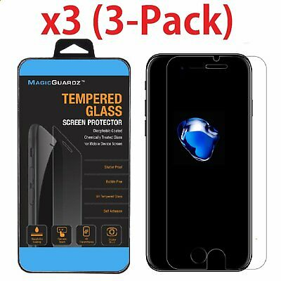 3-Pack Premium Real Tempered Glass Screen Protector For Apple iPhone 8 / 8 Plus