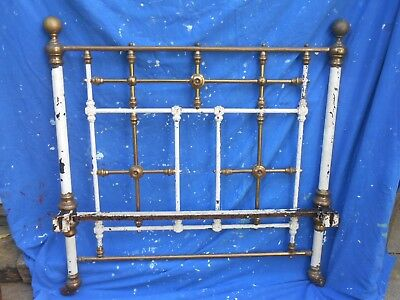 Victorian Brass & Iron Bed Large Single .