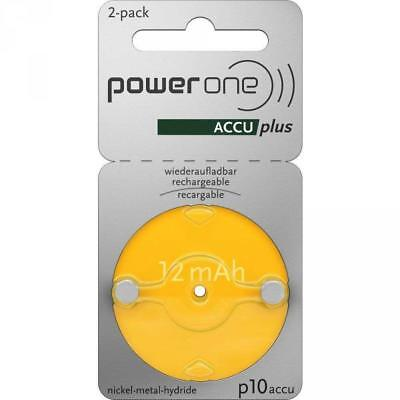 PowerOne Accu Plus Piles Auditives Rechargeables Taille 10