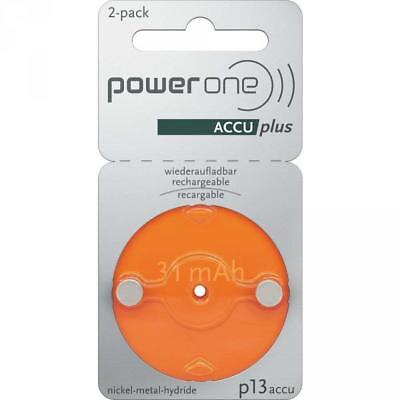 PowerOne Accu Plus Piles Auditives Rechargeables Taille 13