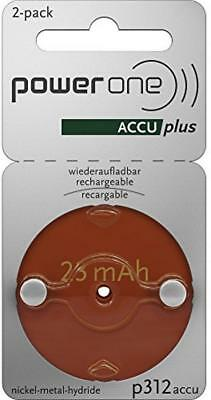 PowerOne Accu Plus Piles Auditives Rechargeables Taille 312